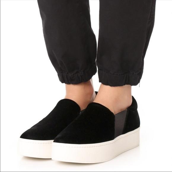 7843b4bddbc84 VINCE Warren Velvet Platform Slip On Sneakers. M_5b06487f31a376d050ac3d11